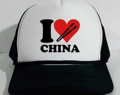 Boné Trucker I love China