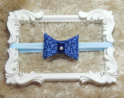 Headband de mini laço azul
