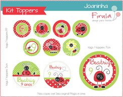Kit Digital Toppers Joaninha
