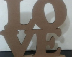 LOVE mdf Cru 6mm - 40cm com Base