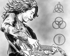 Poster Roqueiros A3 - Jimmy Page