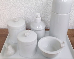 Kit higiene Mini Pássaros de Porcelana