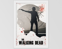 Poster The walking dead com moldura
