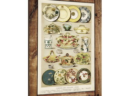 Placa decorativa vintage porcelanas