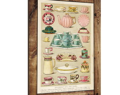 Placa decorativa vintage porcelanas 02