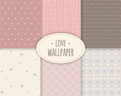 Kit Scrapbook Digital / Love Wallpaper