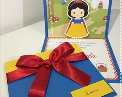 Convite Branca de Neve pop up 3D
