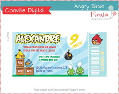 Convite Ingresso Digital Angry Birds