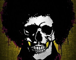 QUADRO DECORATIVO BORN 2 B SKULL HENDRIX