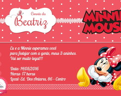 CONVITE MINNIE 01 (Arte Digital)