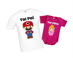 Kit Pai e Filha Super Mario