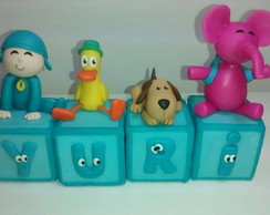 Cubos decorados Pocoyo