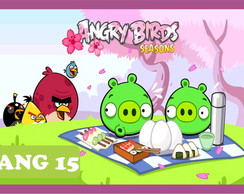 Painel Lona Festa Angry Birds 1,00x1,50