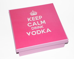 Caixa Keep Calm Drink Vodka