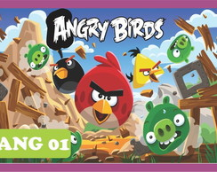 Painel Lona Festa Angry Birds 1,00x2,00