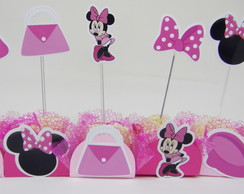 Kit forminha topper Minnie rosa