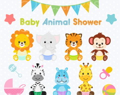 Kit Scrapbook Digital Animais Baby Cute