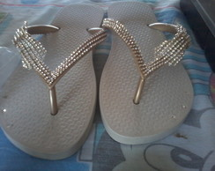 chinelo customizados com strass