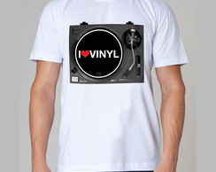 Camiseta Rock - I Love Vinyl