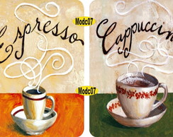 "Conjunto Placa Decorativa ""Café"""