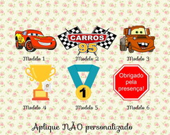Aplique Carros Disney - 3,5cm