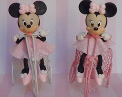 Minnie Mouse Rosa na bicicleta