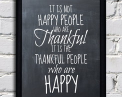 Poster com moldura Thankful People