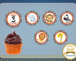 Topper Cupcake Safari