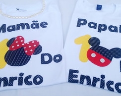 kit Camisetas papai e mamãe Mickey 003