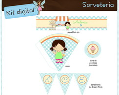 Kit digital Sorveteria | para imprimir