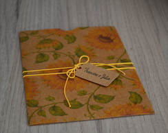 Envelope Estampado Kraft Girassol