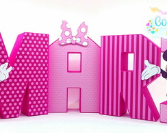 Letras 3D Minnie rosa scrap