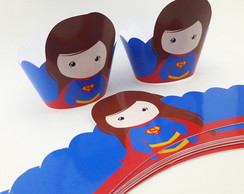 Wrapper Mini (Saia Cupcake) Super Girl