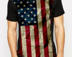 Camiseta Band. Estados Unidos Masculina