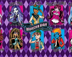 Painel de aniversario monster high 2x1
