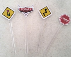 toppers doces carros disney
