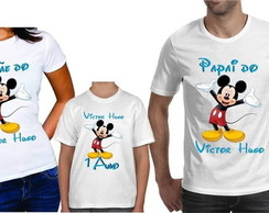Kit Camiseta Feminina Mickey