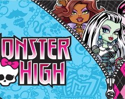 Painel decorativo de festa monster high