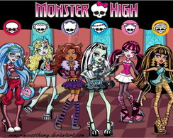 Painel monster high 07 2,00 x 1,00