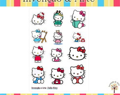 Cartela de Adesivos - Hello Kitty