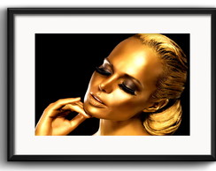 Quadro Fashion Gold com Paspatur