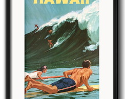 Quadro Surfe Hawaii Vintage com Paspatur