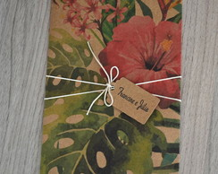 Envelope Estampado Kraft Tropical