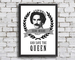 Quadro God Save The Queen A3