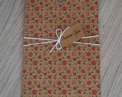 Envelope Estampado Kraft Florzinha