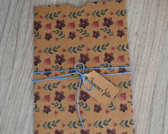 Envelope Estampado Kraft Flor