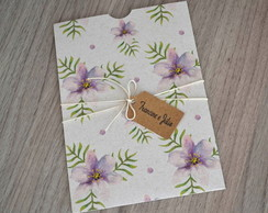 Envelope Estampado Flor