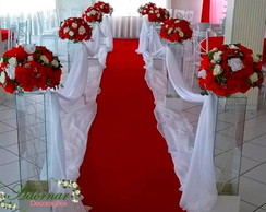 decoração de casamento Preço vermelho