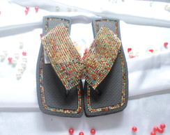 CHINELO MANTA STRASS COLORIDA
