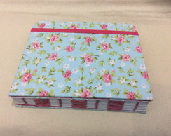 Caderno Floral -Costura French Stitch